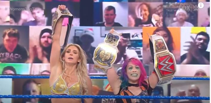 WWE女子タッグ王座戦