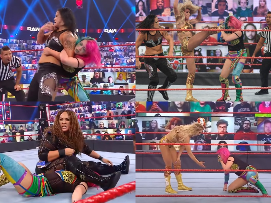 WWEアスカ&女王シャーロット・フレア
