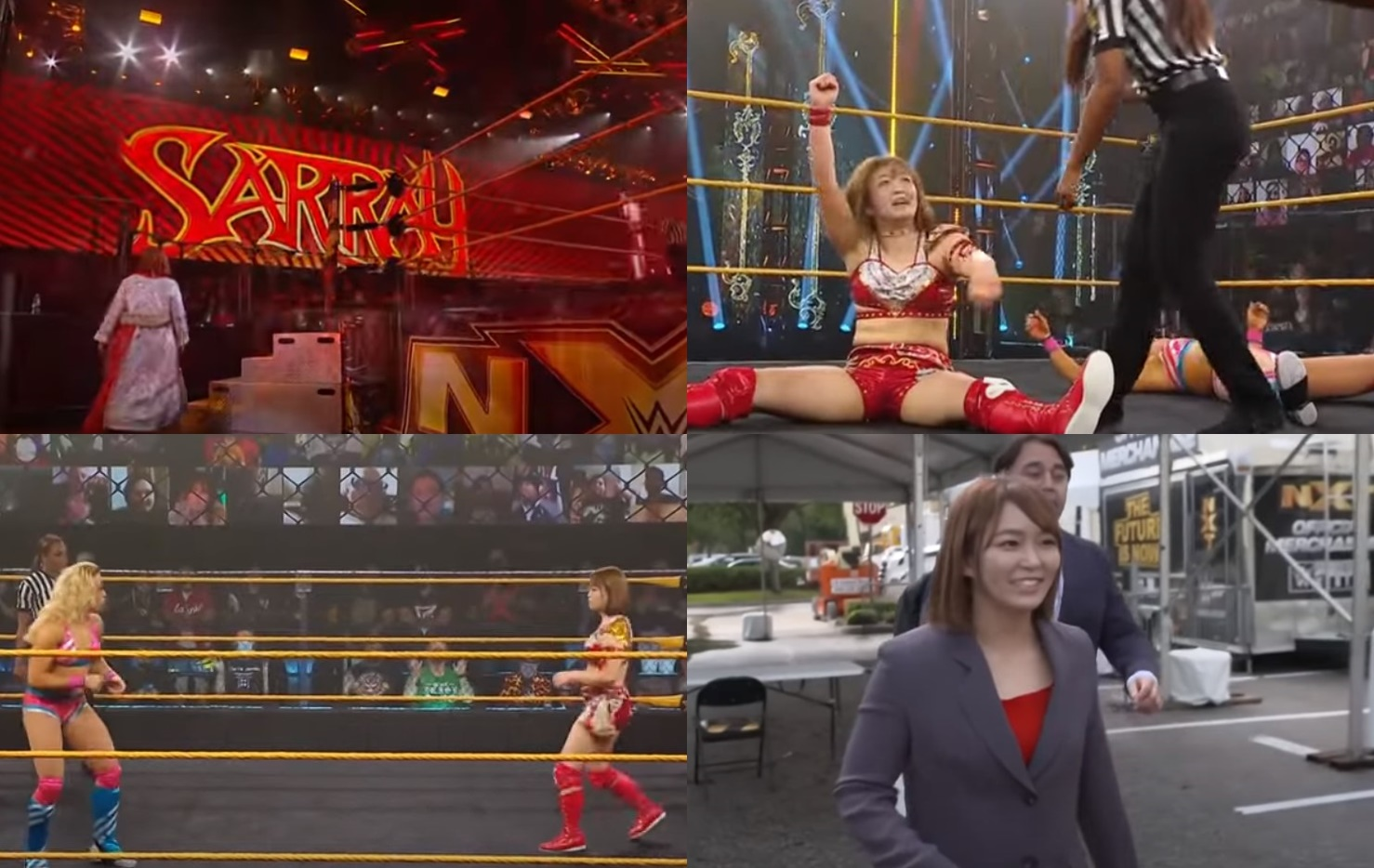 Sarray WWEデビュー戦