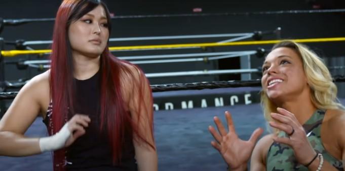 WWENXT女子タッグ王者紫雷イオ&ゾーイ・スタークス